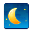 Waning Crescent Moon on Samsung TouchWiz Nature UX 2