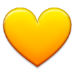 Yellow Heart on Samsung TouchWiz Nature UX 2