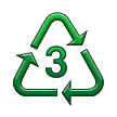 Recycling Symbol for Type-3 Plastics on Samsung TouchWiz 5.1