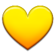 Yellow Heart on Samsung TouchWiz 5.1