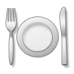 Fork and Knife With Plate on Samsung Touchwiz 6.0