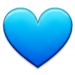 Blue Heart on Samsung Galaxy Note 7