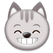 Grinning Cat Face With Smiling Eyes on Samsung Galaxy Note 7