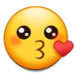 Kissing Face on Samsung Galaxy Note 7 (September 2016)