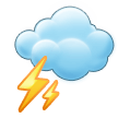 Cloud With Lightning on Samsung Experience 8.0