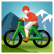 Person Mountain Biking on Samsung Experience 8.0