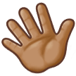 Waving Hand: Medium Skin Tone on Samsung Galaxy S8