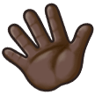 Waving Hand: Dark Skin Tone on Samsung Galaxy S8