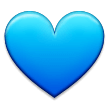 Blue Heart on Samsung Galaxy S8 (March 2017)