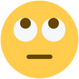 Face With Rolling Eyes on Twitter Twemoji 2.3