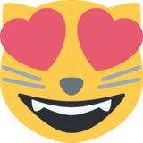 Smiling Cat Face With Heart-Eyes on Twitter Twemoji 2.3