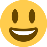 Grinning Face With Big Eyes on Twitter Twemoji 2.3