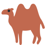 Two-Hump Camel on Twitter Twemoji 2.4