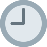 Nine O'clock on Twitter Twemoji 2.4