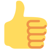 Thumbs Up on Twitter Twemoji 2.4