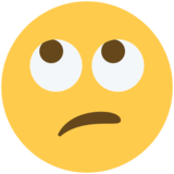 Face With Rolling Eyes on Twitter Twemoji 2.5