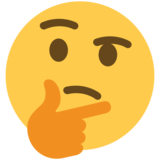 Thinking Face on Twitter Twemoji 2.6