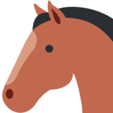 Horse Face on Twitter Twemoji 11.0