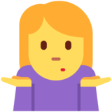 Person Shrugging on Twitter Twemoji 11.0
