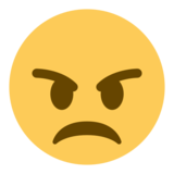 Angry Face on Twitter Twemoji 1.0