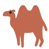 Two-Hump Camel on Twitter Twemoji 1.0