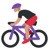 Person Biking on Twitter Twemoji 1.0