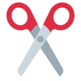 Scissors on Twitter Twemoji 1.0