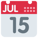 Calendar on Twitter Twemoji 1.0