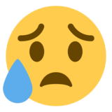 Disappointed but Relieved Face on Twitter Twemoji 1.0
