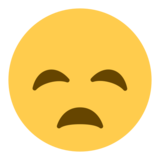 Disappointed Face on Twitter Twemoji 1.0