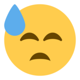 Face With Cold Sweat on Twitter Twemoji 1.0