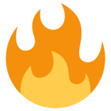 Fire on Twitter Twemoji 1.0