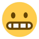 Grimacing Face on Twitter Twemoji 1.0