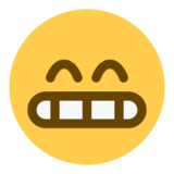 Grinning Face With Smiling Eyes on Twitter Twemoji 1.0