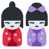 Japanese Dolls on Twitter Twemoji 1.0