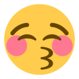 Kissing Face With Closed Eyes on Twitter Twemoji 1.0