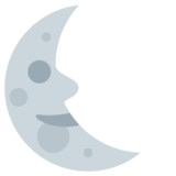 Last Quarter Moon Face on Twitter Twemoji 1.0