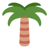 Palm Tree on Twitter Twemoji 1.0