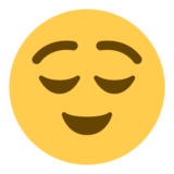 Relieved Face on Twitter Twemoji 1.0