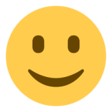 Slightly Smiling Face on Twitter Twemoji 1.0