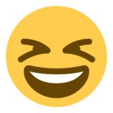 Smiling Face With Open Mouth & Closed Eyes on Twitter Twemoji 1.0