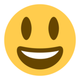 Grinning Face With Big Eyes on Twitter Twemoji 1.0