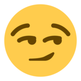 Smirking Face on Twitter Twemoji 1.0