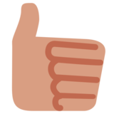 Thumbs Up on Twitter Twemoji 1.0