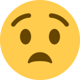 Anguished Face on Twitter Twemoji 2.0