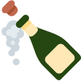 Bottle With Popping Cork on Twitter Twemoji 2.0