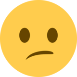 Confused Face on Twitter Twemoji 2.0