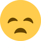 Disappointed Face on Twitter Twemoji 2.0