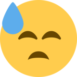 Face With Cold Sweat on Twitter Twemoji 2.0