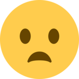 Frowning Face With Open Mouth on Twitter Twemoji 2.0